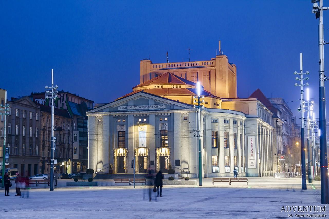 Katowice Górny Śląsk zabytki zwiedzanie atrakcje teatr