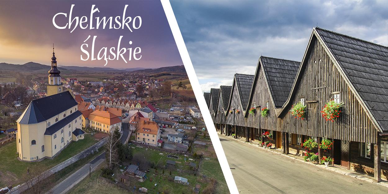 Chełmsko śląskie Lubawka Domy Tkaczy Rynek Dolny śląsk dolnosląskie zwiedzanie atrakcje