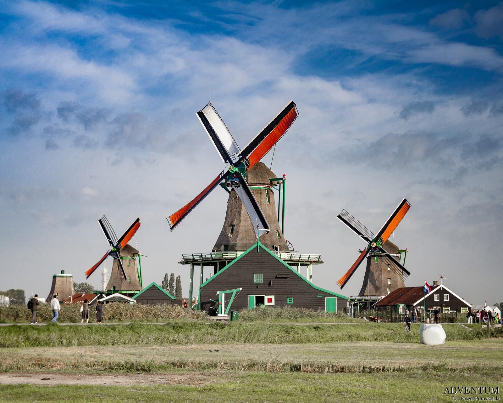 Holandia Zaanse Schans Atrakcje Zwiedzanie co Zobaczyć Amsterdam Rotterdam Haga Kanały Wiatraki