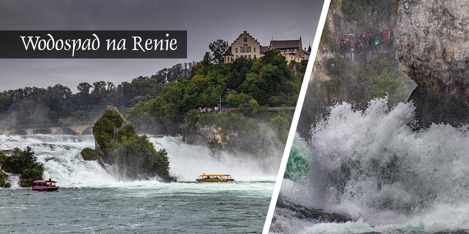 Wodospad najwyższy w europie szwjacaria Ren na renie rheinfall schaffhausen wycieczka
