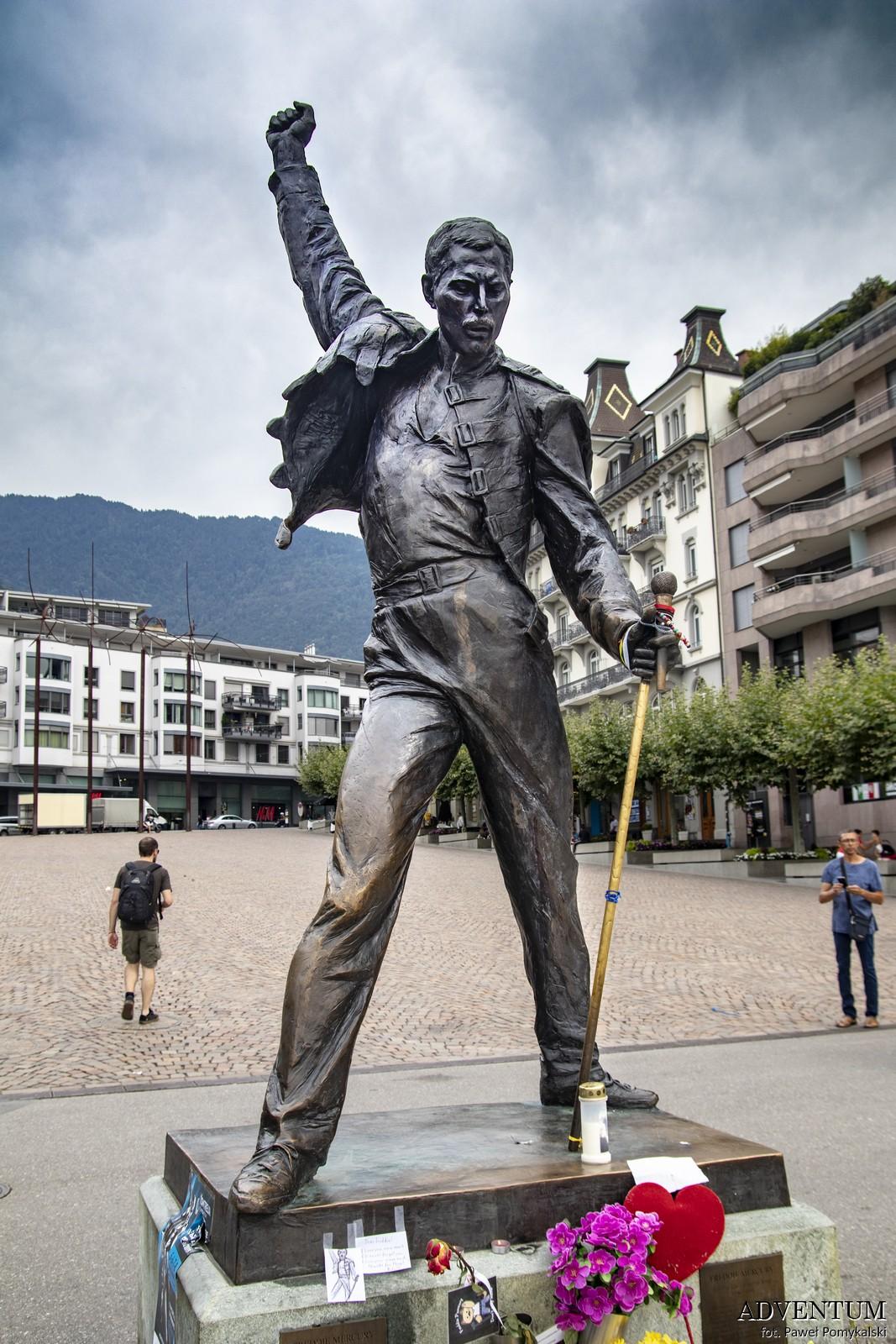Queen Montreux Szwajcaria Freddie Mercury Studio Experience Jezioro Genewskie Freddie Mercury Pomnik