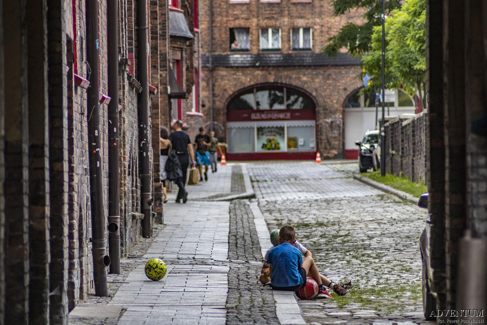 Katowice Nikiszowiec Górny Śląsk Plan Mapa Cegła Zdjecia Janów Zdjęcia