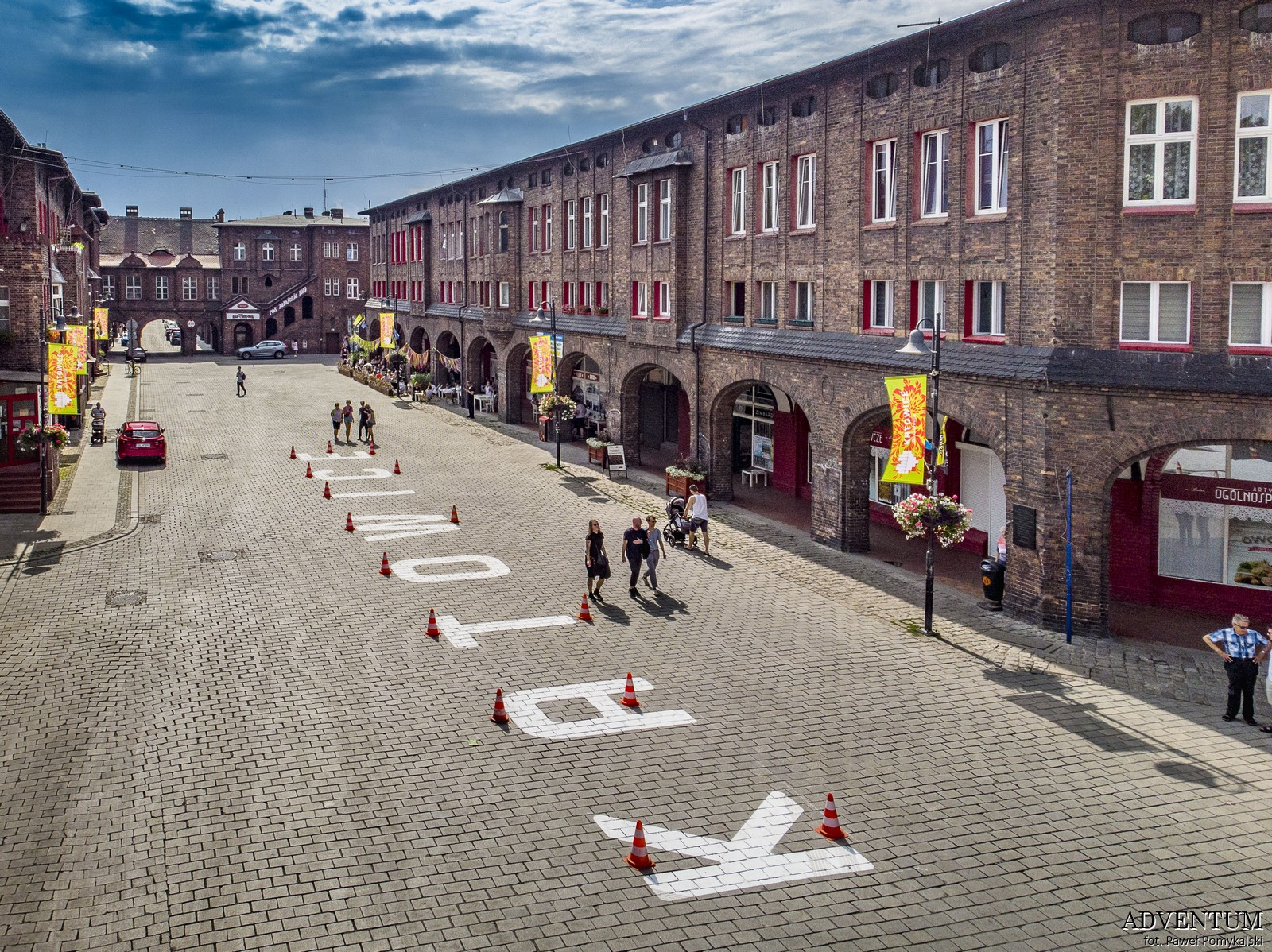 Katowice Nikiszowiec Górny Śląsk Plan Mapa Cegła Zdjecia Janów Jarmark