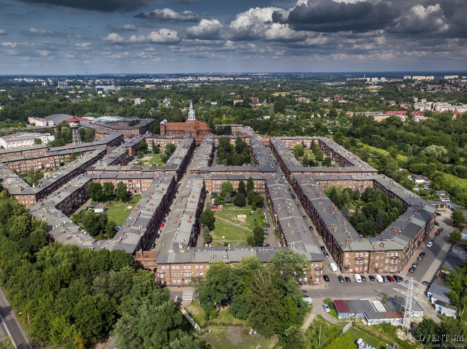 Katowice Nikiszowiec Górny Śląsk Plan Mapa Cegła Zdjecia Janów