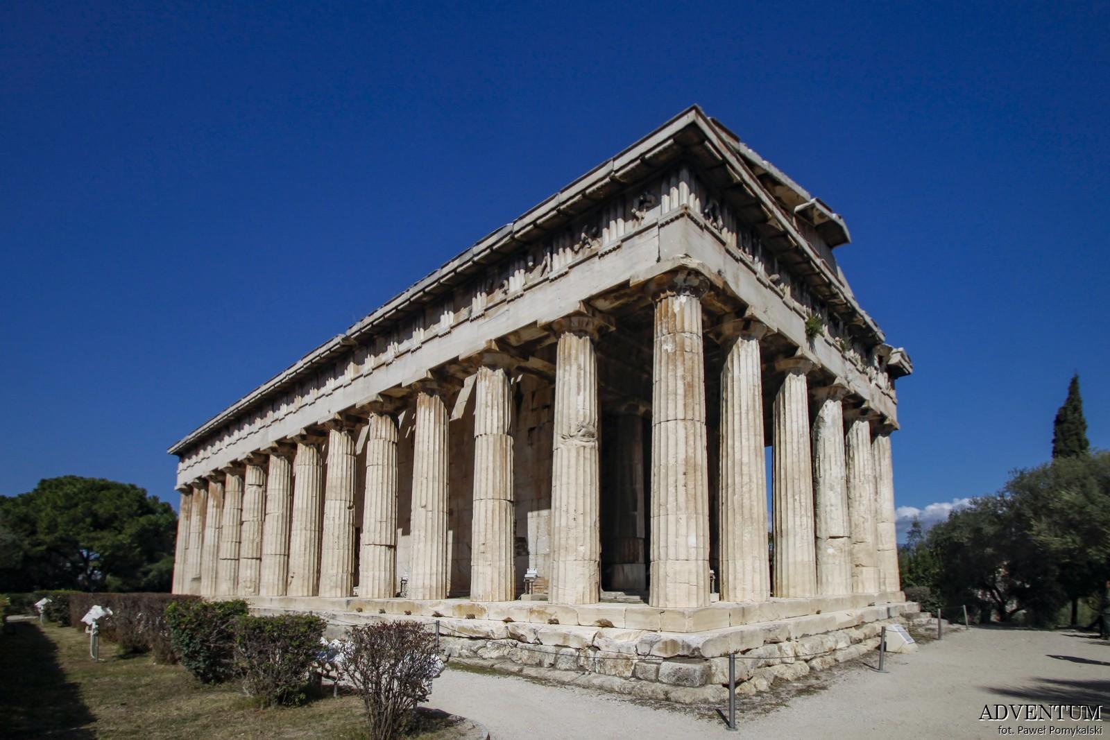 Ateny Agora Świątynia Hefajstosa Atrakcje Zwiedzanie Loty Tanie Linie co Zobaczyć