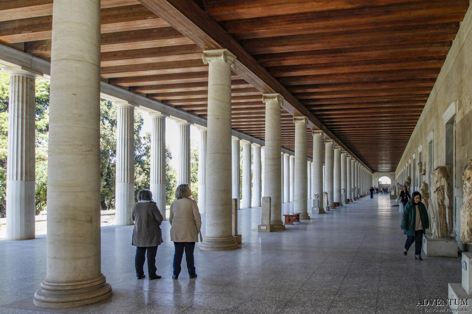 Ateny Agora Stoa Attalosa Atrakcje Zwiedzanie Loty Tanie Linie co Zobaczyć
