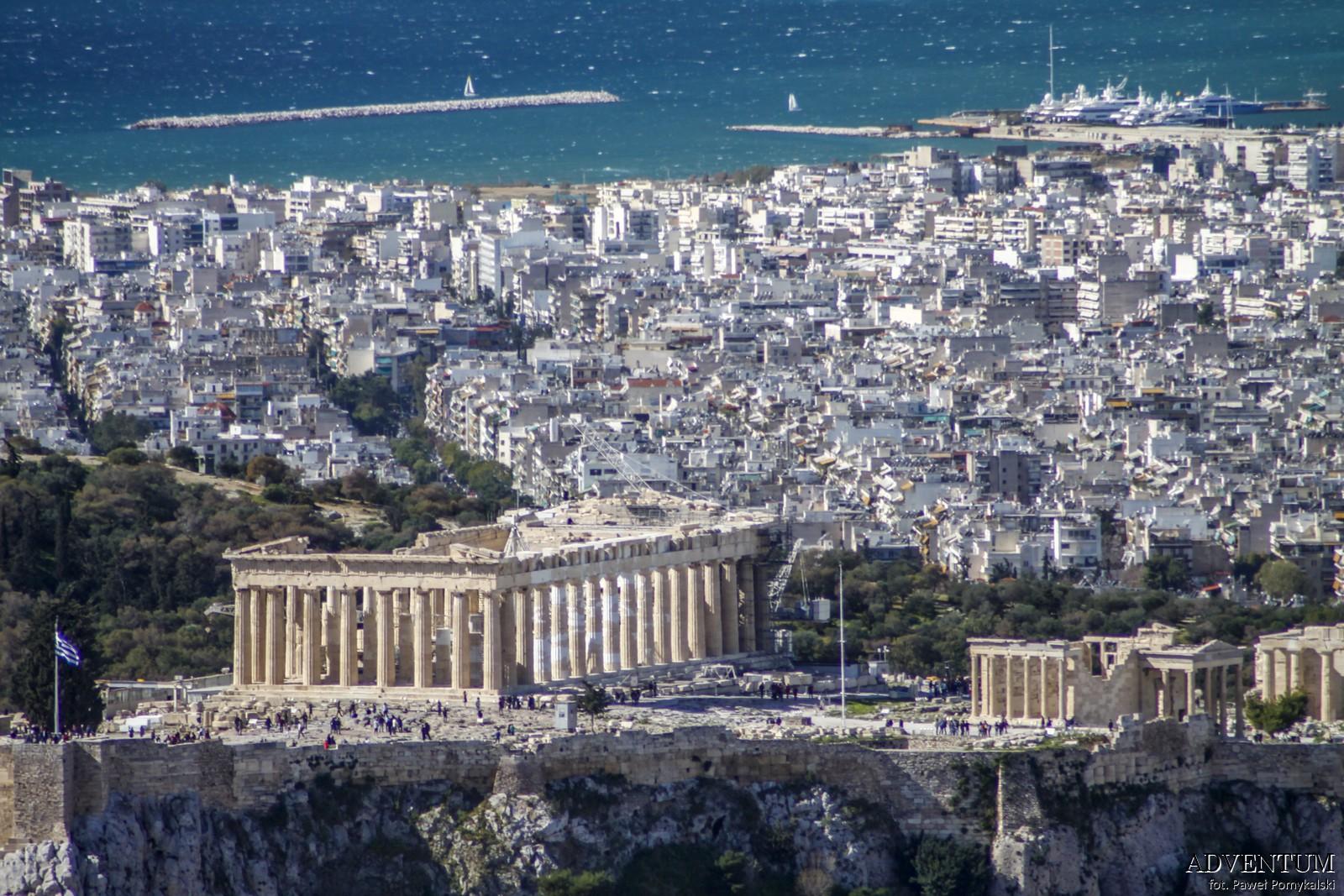 Ateny Widoki Punkt Widokowy Wzgórze Lycabettus akropol Atrakcje Zwiedzanie Loty Tanie Linie co Zobaczyć