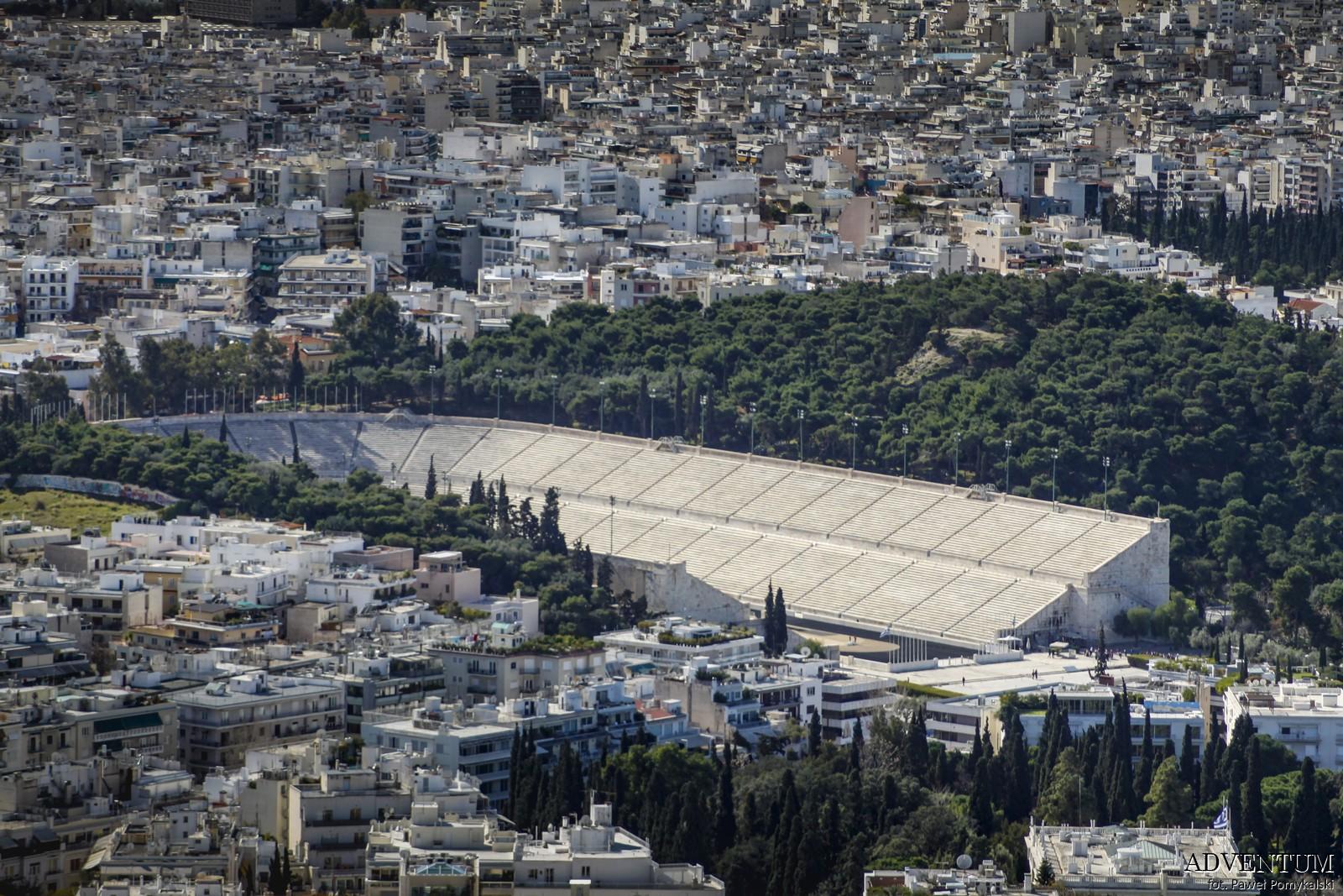 Ateny Widoki Punkt Widokowy Wzgórze Lycabettus Atrakcje Zwiedzanie Loty Tanie Linie co Zobaczyć Stadion Panathinaiko
