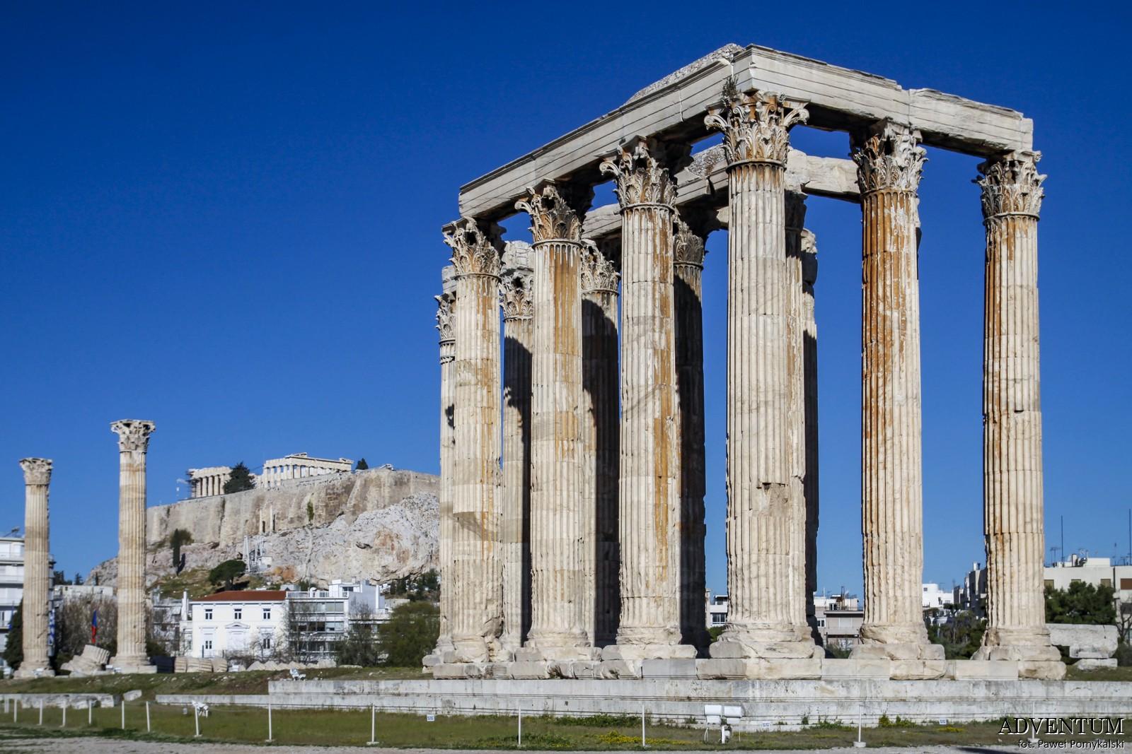 Ateny Świątynia Zeusa Atrakcje Zwiedzanie Loty Tanie Linie co Zobaczyć