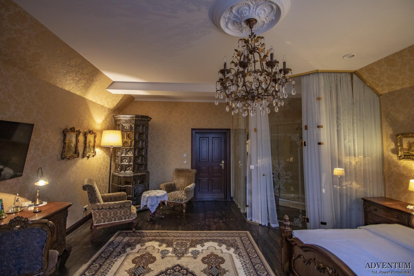 Gruszów pałac dolny śląsk świdnica hotel noclegi wnętrza apartament