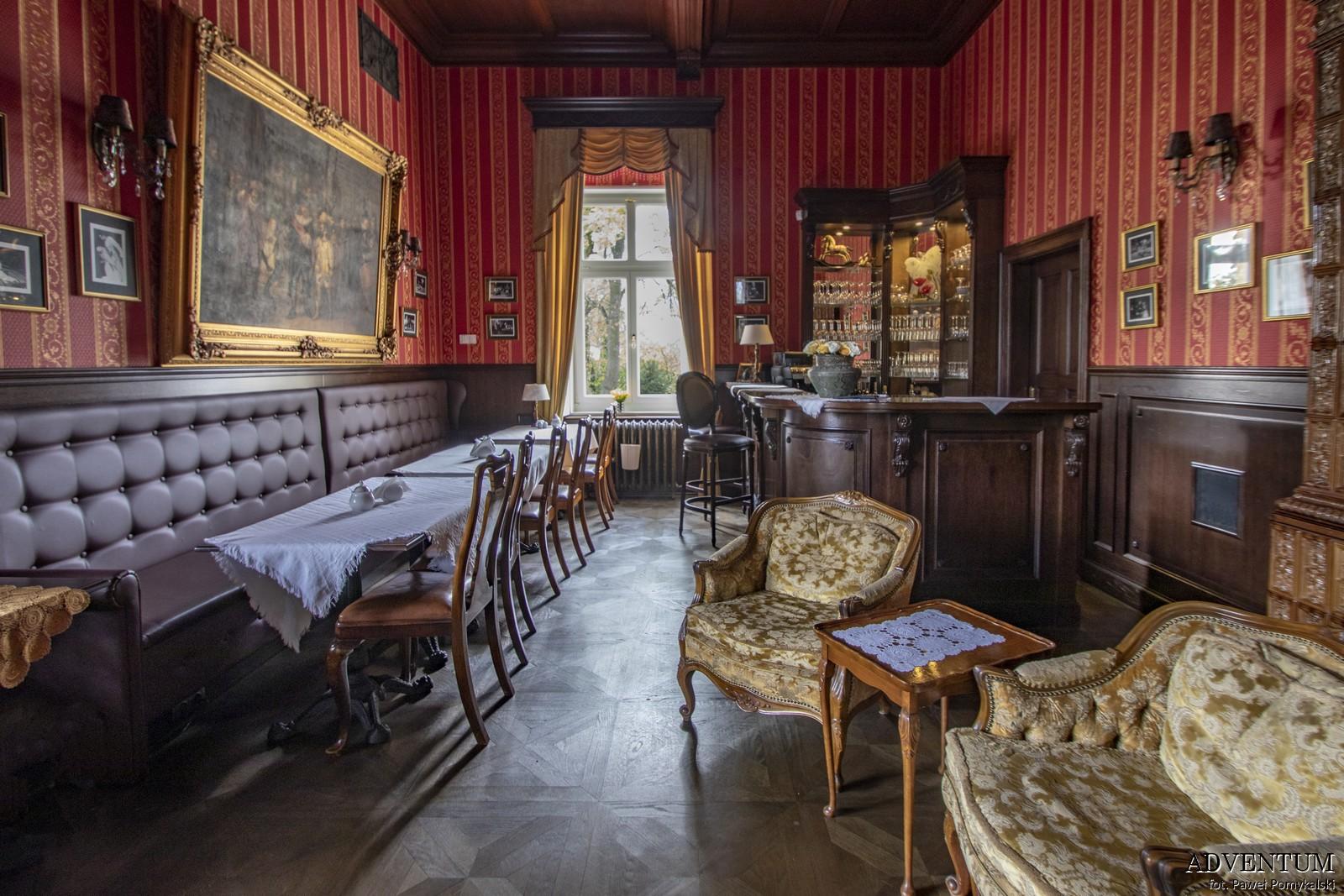 Gruszów pałac dolny śląsk świdnica hotel noclegi wnętrza apartament bar