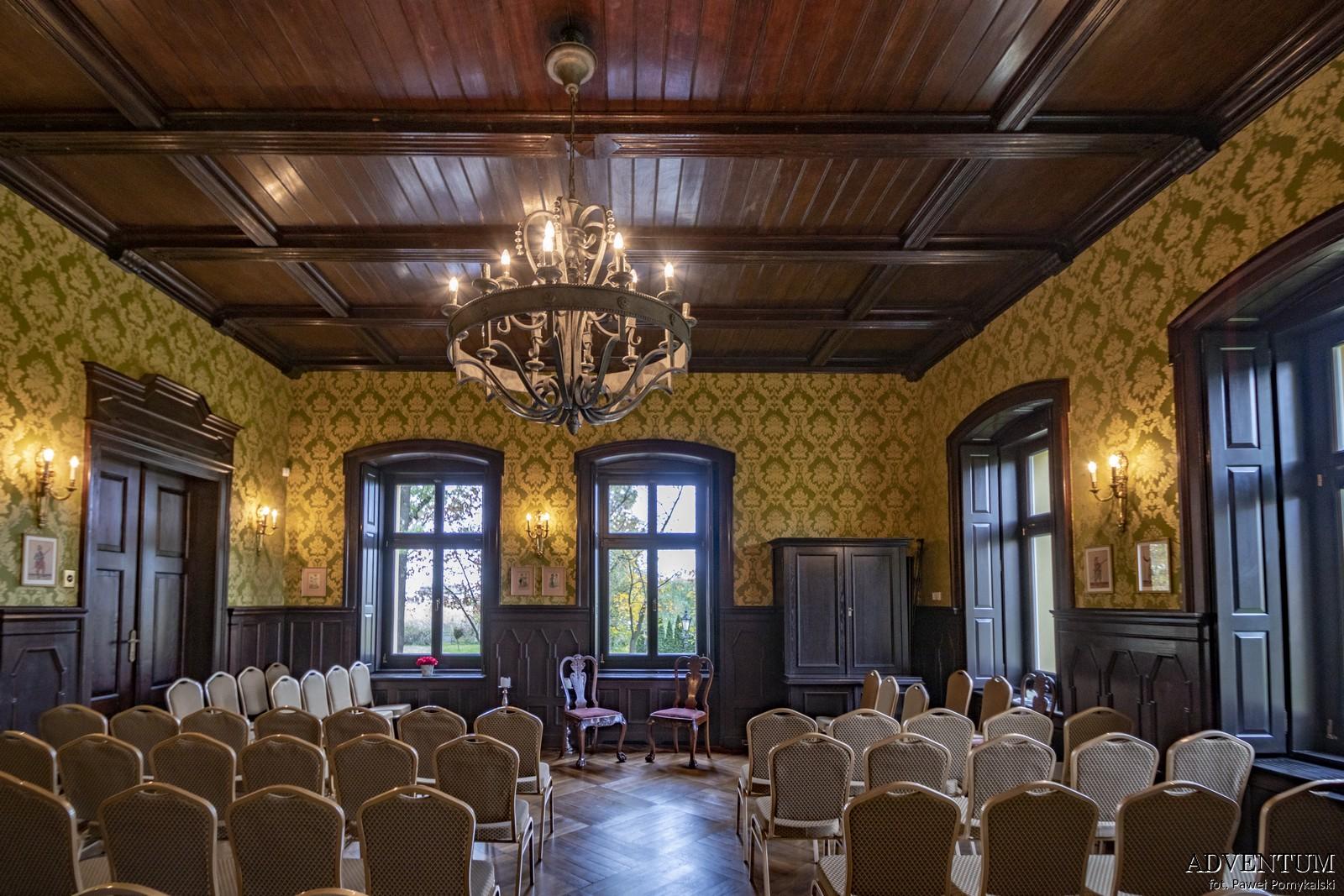 Gruszów pałac dolny śląsk świdnica hotel noclegi wnętrza apartament sala balowa