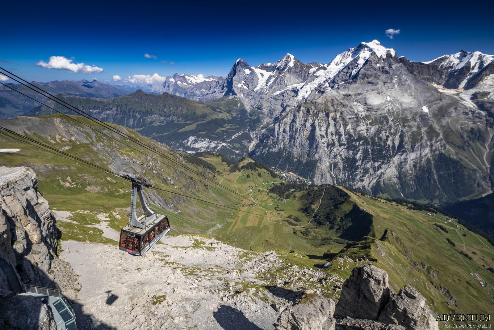 Schilthorn góry Szwajcaria Alpy Kolejka Linowa James Bond 007 Bilety Ceny parking Mürren