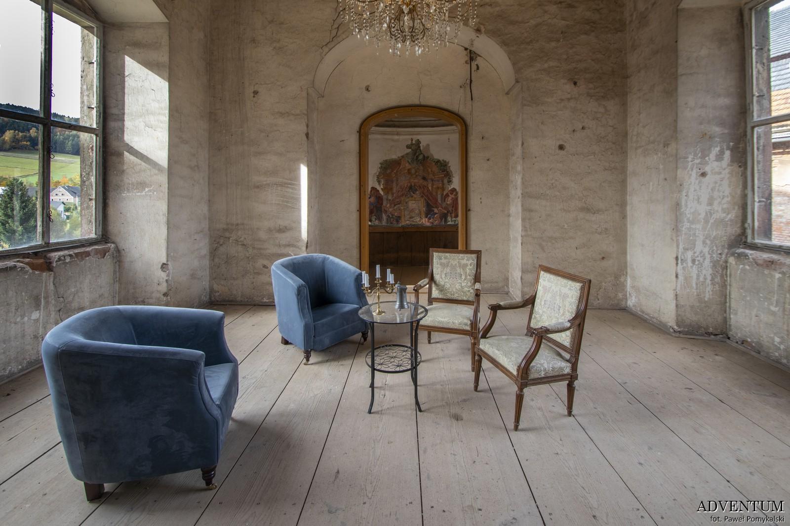 Wnętrza zamku Sarny